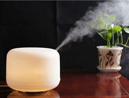 Large 500ml water capacity that can continue use up to 10 hours each time;Coloful changing LED lamp,romantic and convenient - MIU COLOR 500ml Aroma Diffuser Ultrasonic Humidifier LED Color Changing Lamp Light Ionizer