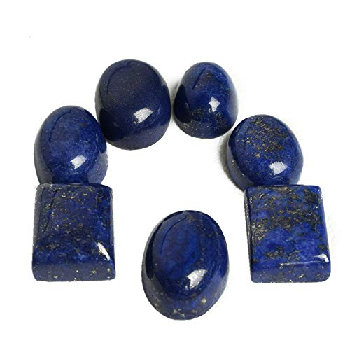 Lapis Lazuli Gold Flaked Mix Cabochon 100 Ct Lot of 7 Pc Loose Gemstones BS-107