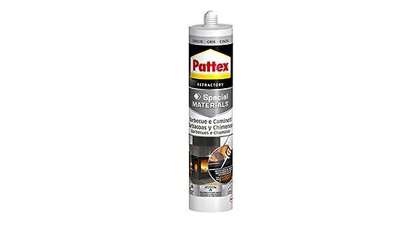 Pattex Silicona barbacoas y chimeneas, gris, resiste al fuego, 500gr: Amazon.es: Industria, empresas y ciencia
