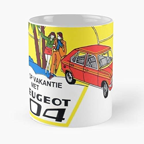 Vintage Peugeot Car Dealer The Best Gift For Holidays Coffee Mugs