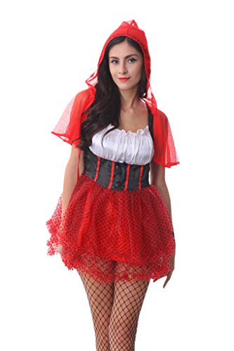 [RedExtend® Fairy Tales Little Red Riding Hood Halloween Dress Costume] (Naughty Nun Halloween Costumes)