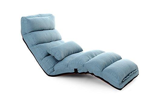Porpora Relaxing Folding Futon Sofa and Comfortable Lounge Sofa, Blue Lounge Sofa Bed