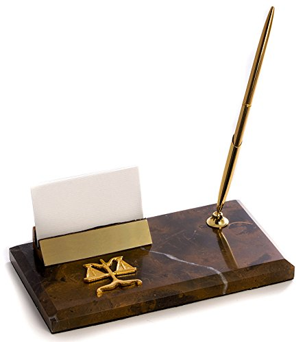 Desk Accessories Scales Of Justice Marble Pen Stand