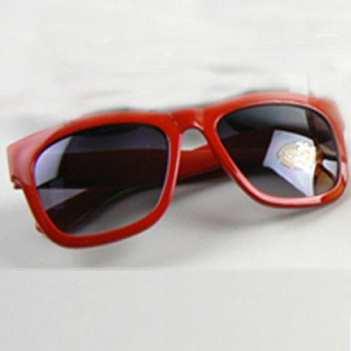 rétro Rouge Anti vue UV soleil lunettes de lentilles carrés lunettes de xqrwxUp