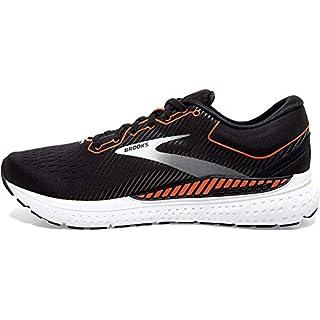 Brooks Mens Transcend 7 Running Shoe - Black/Cherry Tomato/White - D - 11.5