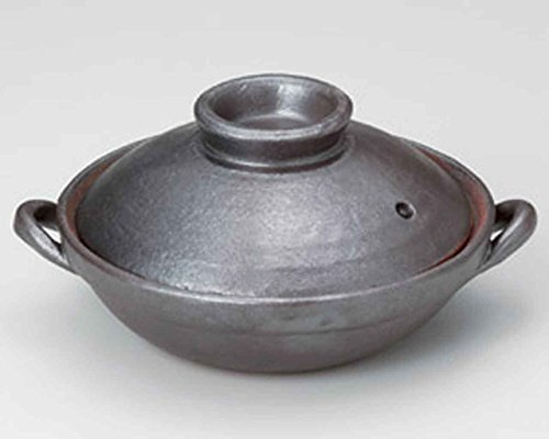Tetsu-Kessho for 1-2 persons 7.1inch Donabe Japanese Hot pot Grey Ceramic Made in Japan