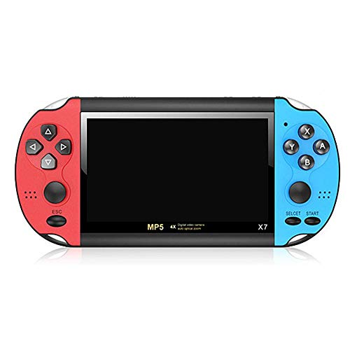 Handheld Game Console Retro Video Game Machine4.3-inch TFT LCD Screen 8 GB Memory and Can Storage 3000 Classic Games Support APE / MP3 / WMA/Acc/FLAC - Blue and Red