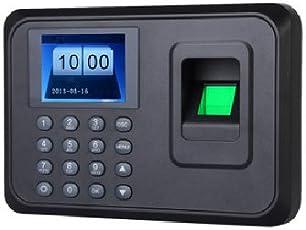 Muitech Reloj Checador de Huella Digital Biometrico por Memoria USB con Capacitad de 600 Huellas con Pantalla a Color DE 2.4 Pulgadas en Español