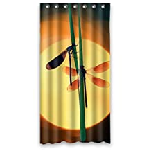 Custom Dragonfly Design Waterproof Polyester Fabric Bathroom Shower Curtain 36 inch x 72 inch,about 90cm x 183cm