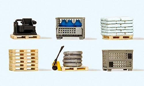 - Preiser 17704 Assorted Pallets w/Loads HO Scale Scenery Set