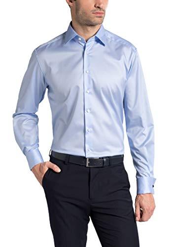 Twill Long Fit Sleeve Eterna Shirt Comfort Azul Uni Claro Gentle gwA6Y6q