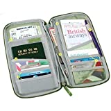 """Cosmos ® 9.5"""" Blue Multi-Purpose/passport Case/Bag/Holder/Organizer for Card Money Ticket and more With Cosmos Cable Tie"""