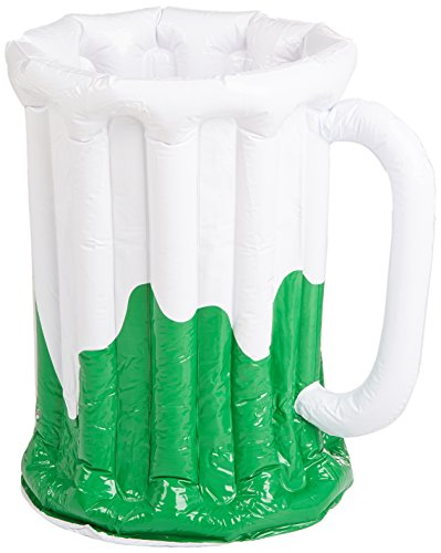 Inflatable Beer Mug Cooler (holds apprx 48 12-Oz cans) Party Accessory  (1 count) (1/Pkg)]()