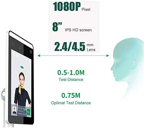 MEILINL Temperature Detection Facial Recognition Thermal Infrared Tablet Camera Non-Contact Body Temperature Detection for Access Control System Time Attendance