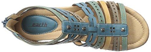 Terra Delle Donne Gladiatore Sandalo Ombra Blu