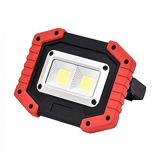 Path Lights, Garden Lights, yanQxIzbiu 2Pcs COB Lamps LED Worklights Waterproof Emergency Lights for Camping Hiking - Red