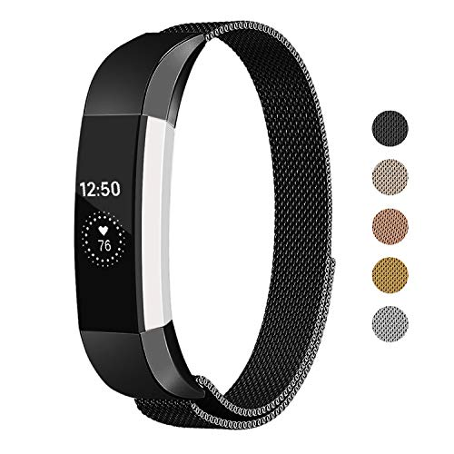 - Keasy Replacement Metal Bands Compatible for Fitbit Alta and Fitbit Alta HR, Stainless Steel Magnet Replacement Band for Women Men