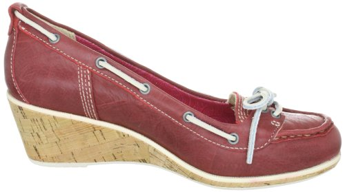 Timberland WHITTIER BOAT WEDGE RED 42635 - Zapatos de cuero para mujer Rojo
