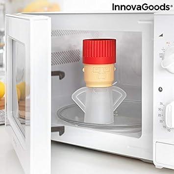 InnovaGoods Limpiador de Microondas Fuming Chef, Multicolor, 6, 5 ...