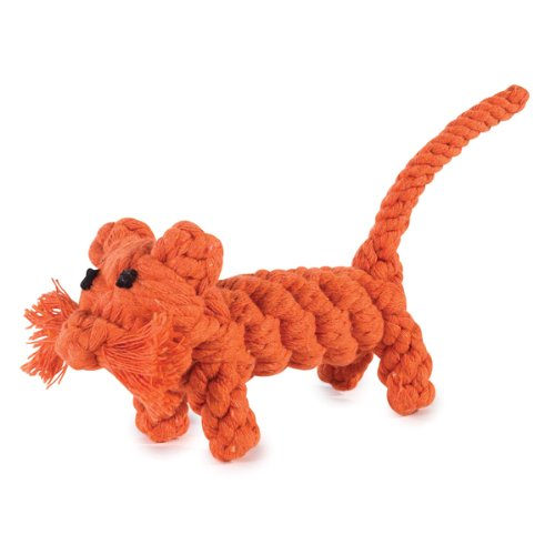 Zanies 4-3/4-Inch Rope Menagerie Dog Toy, Tiger, My Pet Supplies