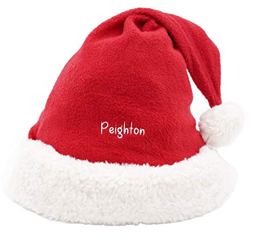 Premium Custom Embroidered Santa Hat for Children & Adult, Personalized Christmas Gift. Thick Terry. Comfortable Fit. -