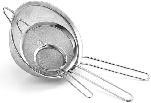 Cuisinart Set of 3 Fine Mesh Stainless Steel Strainers, CTG-00-3MS