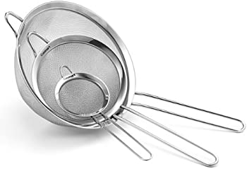 3-Set Cuisinart CTG-00-3MS Fine Mesh Stainless Steel Strainers