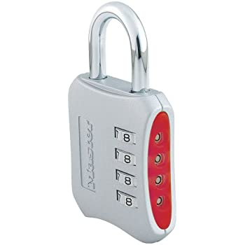Master Lock Padlock, Set Your Own Combination Lock, 2 in. Wide, Assorted Colors, 653D