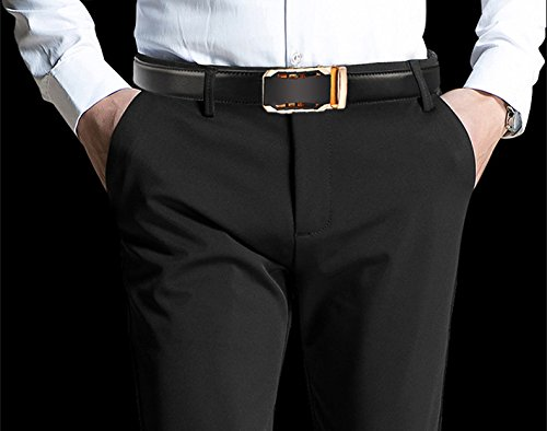 Iztor Men's Belts Leather Ratchet Dress Belt with Automatic Buckle 1 3/8'' Wider for from 20'' to 43'' Waist by iztor (Image #2)
