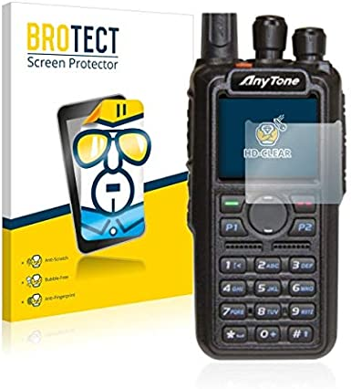 Bedifol 2X BROTECT HD-Clear Screen Protector for Wahoo Elemnt Mini Crystal-Clear Dirt-Repellent Hard-Coated