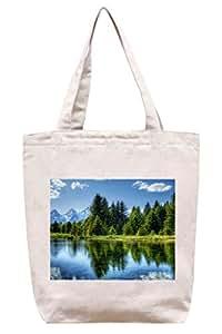 Little Forest Lake–algodón Canvas Tote Bag