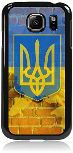 Ukraine Flag-Wall-Art- Case for the Samsung® Galaxy s6 Only (Not the s6 EDGE)- Hard Black Plastic Snap On Case