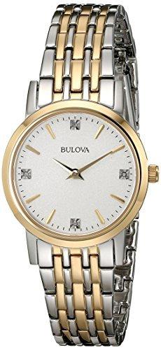 Bulova Women's Diamond Watch In Stainless Steel