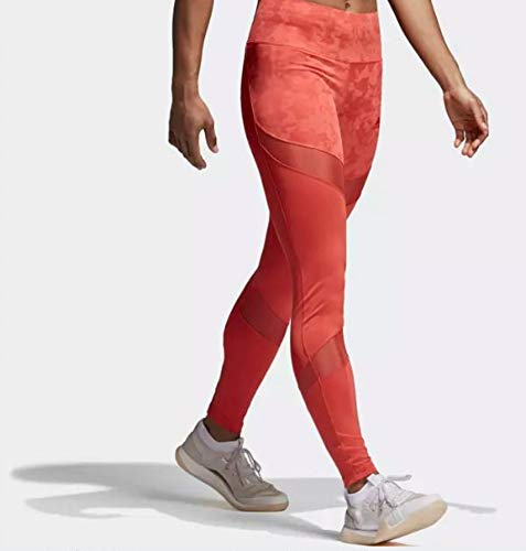 adidas Women's Climalite Ultimate High Rise Printed Long Tights, Trace Scarlet/Print,X-Small by adidas (Image #4)