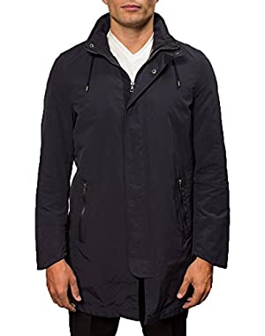 Men's Hooded Raincoat With Zip Out Liner