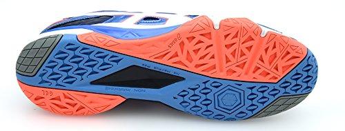 6 POWDER Cyber FLASH WHITE Zapatillas Gel Asics BLUE CORAL Indoor Women's Sensei vxqB55t0