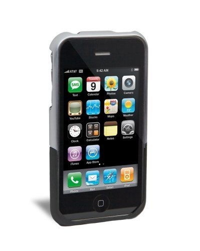 iFrogz Luxe Case for iPhone 3G, 3G S (Clear,Black)