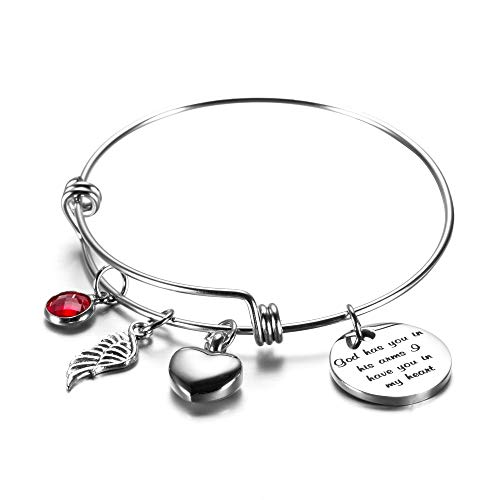 Urn Bracelet God has You in his arm Cremation Jewelry for Ashes Memories Bracelet for Women Mom Sympathy Gift (God has You in his ()