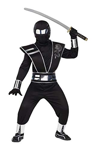 Silver Mirror Ninja Child Costume