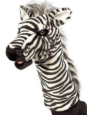 (New Zebra Stage Hand Puppet Stuffed Plush Toy)