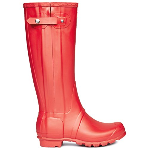 Womens Hunter Original Slim Zip Winter Festival Pioggia Wellingtons Stivali-corallo Brillante