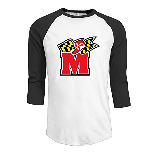 SAXON13 Men's Funny University Of Maryland Terps Raglan 3/4 Sleeve