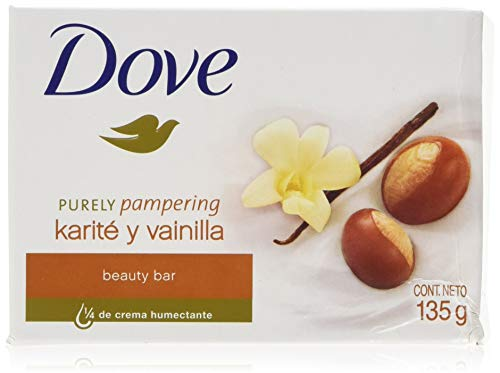 Dove Purely Pampering Shea Butter Beauty Bar with Vanilla Scent Soap 4.75 Oz/135 Gr (Pack of 12 Bars)