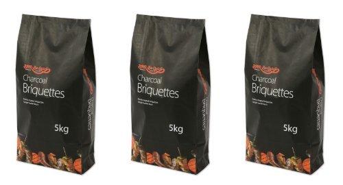 Holland Plastics Original Brand 3 X Bar Be Quick Charcoal Burning Quality Briquettes For A Hotter Burn 5 Kg