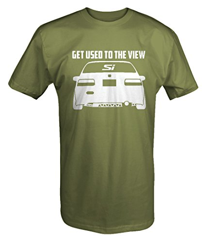 Honda Civic Lowered Si Get Used the the View Racing T Shirt (2008 Honda Civic Manual Transmission For Sale)