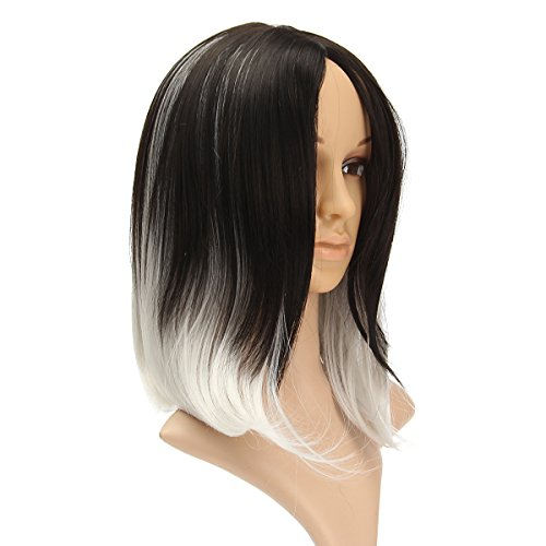 ACDOS Greyish White Heat Resistant Synthetic Fiber Full Hair Wig Cosplay Costume Rose Play ACDOS (Size : One size)