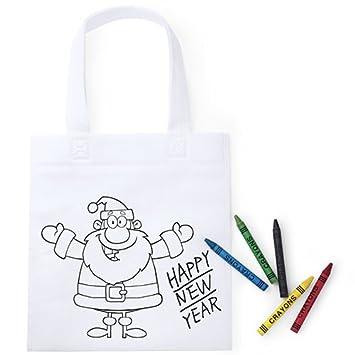 Lote de 20 Bolsas para Colorear de Navidad - Ideal para Regalos de eventos, colegios, niños.