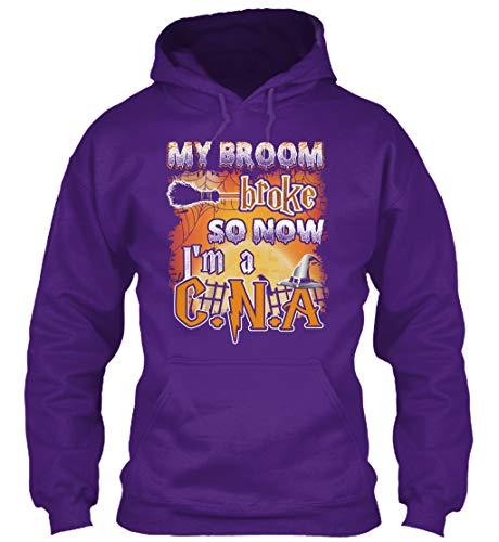 My Broom Broke so. 3XL - Purple Sweatshirt - Gildan 8oz Heavy Blend Hoodie for $<!--$34.99-->