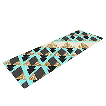 Amazon.com : Kess InHouse Nika Martinez Glitter Triangles in ...