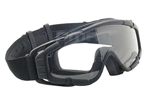 - Fan Version Cooler Paintball Airsoft Glass SI-Ballistic Goggles Ski Snowboard BK